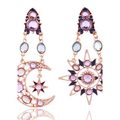 Dame Krystall Dråpeøreringer - Krystall, Gullbelagt Stjerne Vintage, Europeisk, Enkel Stil Regnbue Til Bryllup Fest Daglig