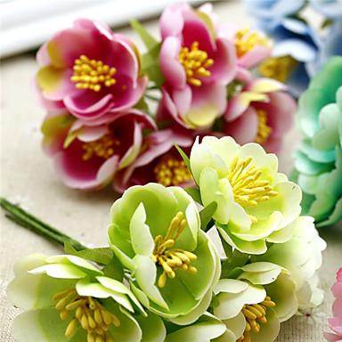 1 Gren Polyester Camellia Bordblomst Kunstige blomster
