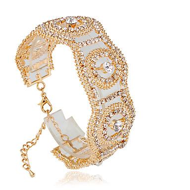 Damen Tennis Armbänder Modisch Aleación Kreisform Schmuck Hochzeit Modeschmuck Silber Golden