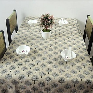 Neliö Kukka Painettu Table Cloths , Mélange Lin/Coton materiaali Sisustus Hotel ruokapöytä 1
