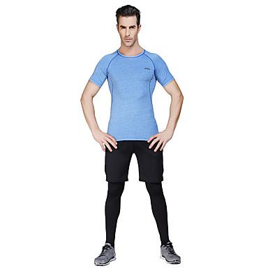 Heren Hardloopshirt met broek Korte mouw Sneldrogend Ademend Compressie Hardloopshirt + broek T-shirt Fietsen Tights/Lange Broek Pakken