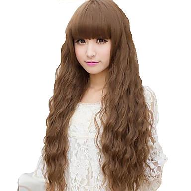 Парики из искусственных волос плотность Жен. Коричневый Карнавальный парик Парик для Хэллоуина парик Костюм Длинные