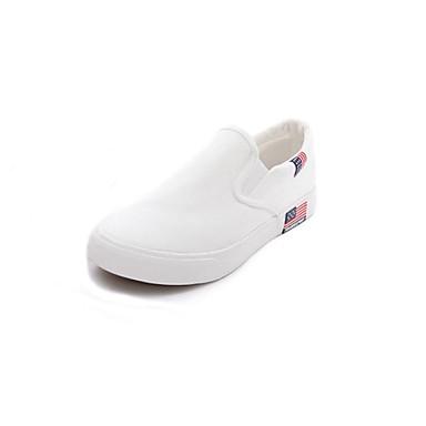 Sneakers-Kanvas-Komfort-Herre-Sort Hvid Marine-Udendørs Kontor Fritid-Flad hæl