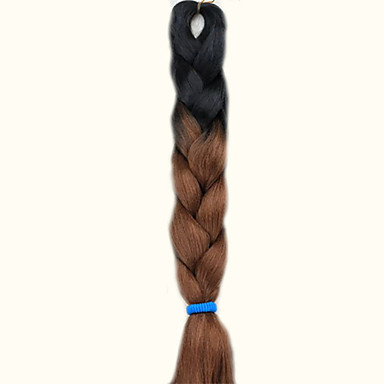 Cross Type Human Hair Extensions Synthetic Hair Extension