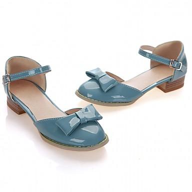 Naiset Kengät Synteettinen Kiiltonahka Tekonahka Kevät Kesä Syksy Comfort Uutuus Persu avokkaat Korkokengät Kävely Paksu korko Block Heel