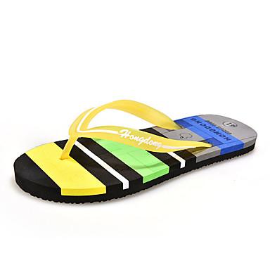 Unisex Schuhe Stoff Sommer Komfort Slippers & Flip-Flops für Normal Braun Grün Blau Rosa Königsblau