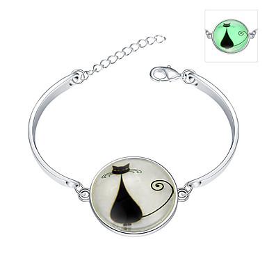 Miesten Naisten Sterling-hopea Smaragdi Loistava Amuletti-rannekorut Rannerenkaat - Boheemi Loistava Valaistu Muoti Säädettävä