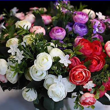1 1 Afdeling Polyester / Plastik Roser Bordblomst Kunstige blomster 11.8inch/30cm