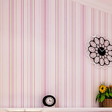 Streep Wallpaper voor Home Modern Behangen , Ongeweven papier Materiaal lijm nodig behang , kamer Wallcovering