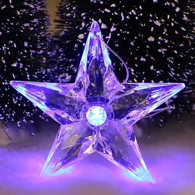5pc ledet tilfeldig farge julegave interiør femkantet stjerne nattlys