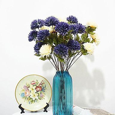 1 1 Afdeling Polyester / Plastik Tusindfryd Bordblomst Kunstige blomster 24.8inch/63cm