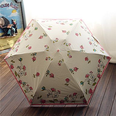 Sammenfoldet paraply Metal tekstil Klapvogn børn Rejse Dame Herre Bil