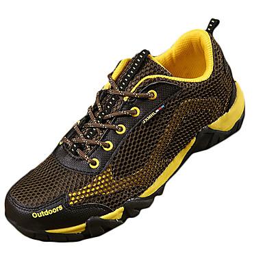Dames Heren Sneakers Comfortabel Tule Lente Zomer Herfst Sportief Trektochten Comfortabel Veters Platte hak Paars Geel Groen Blauw Roze