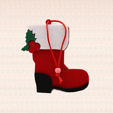 1pc rødt kort boot sko design vedhæng juletræ dekoration ferie leverancer udefra temmelig gave