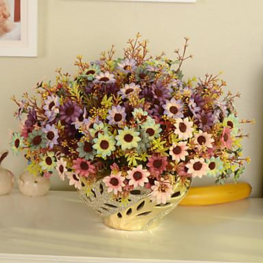 1 haara Muovi Päivänkakkarat Pöytäkukka Keinotekoinen Flowers 12.9inch/33cm
