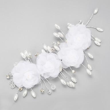legering bloemen hoofddeksel huwelijksfeest elegante klassieke vrouwelijke stijl