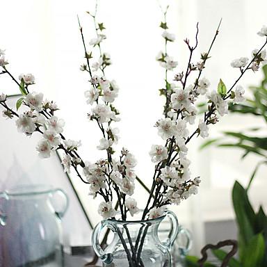Artificial Flowers 1 Branch Pastoral Style Sakura Tabletop Flower