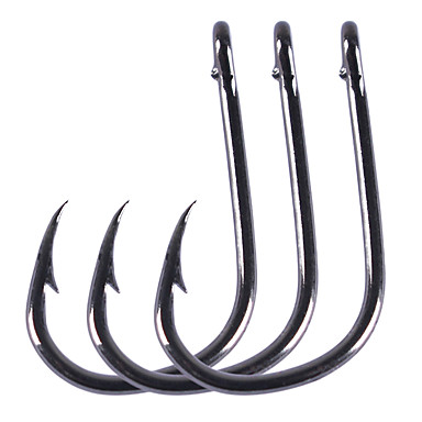 cheap Fishing Hooks-100 pcs Aberdeen Hook Fishing Hooks Needle / Thin Hang-Nail / Curved Point Sea Fishing / Freshwater Fishing / General Fishing Carbon Steel Easy to Use