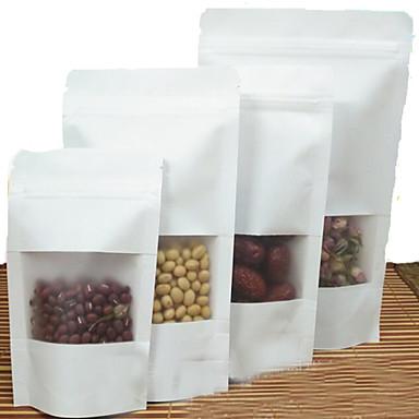 matt matt hvit window Kraft stående ziplock matemballasje poser med høy grad av nøtter å bestille en pakke med ti utskrift