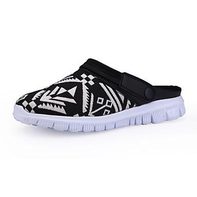 Masculino sapatos Tecido Verão Conforto Rasos Caminhada Para Casual Branco Preto Azul