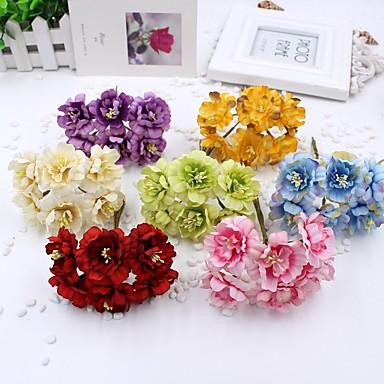 1 Gren Polyester Blomme Veggblomst Kunstige blomster