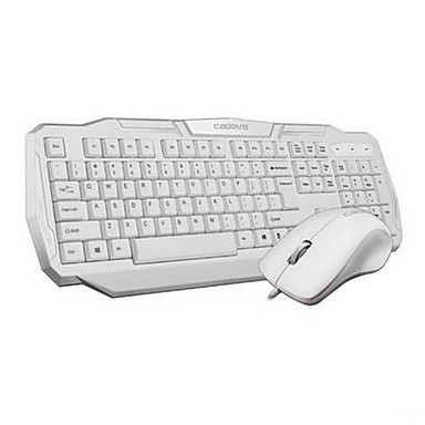 Johdolla USB Näppäimistö ja hiiriForWindows 2000/XP/Vista/7/Mac OS