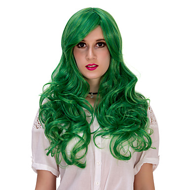 Damen Synthetische Haare Lang Capless Perücken