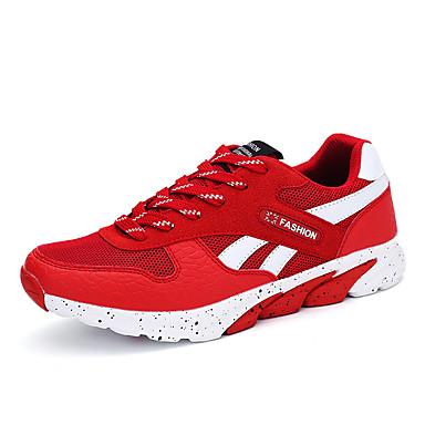 Sneakers-TylHerre-Sort Rød Hvid Grå-Udendørs Fritid Sport-Flad hæl