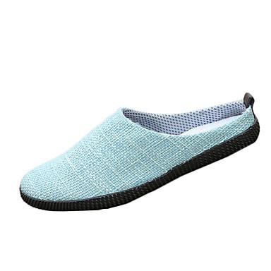 Miesten kengät Pellava Syksy Tasapohjakengät Solmittavat varten Kausaliteetti Beesi Tumman sininen Ruskea Vaalean sininen