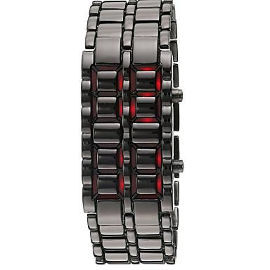 Herren Modeuhr Armbanduhr digital LED Kalender Silikon Band Armreif Schwarz Silber Schwarz Silber