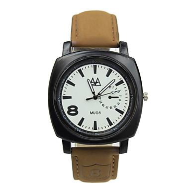 Masculino Relógio Esportivo Relógio Elegante Relógio de Moda Relógio de Pulso Quartzo / Couro Banda Casual Marrom Branco Preto