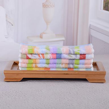 yukang 5pcs vask håndkle pakke, multi-farge regnbue utforming 100% bomull håndkle