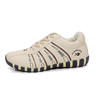 Kadın's Spor Ayakkabısı Düz Taban Bağcıklı PU Rahat Yürüyüş Bahar / Sonbahar Bej