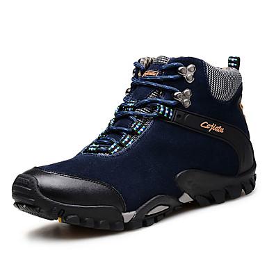 Masculino-Tênis-Conforto-Rasteiro-Azul Marrom Caqui-Camurça-Ar-Livre