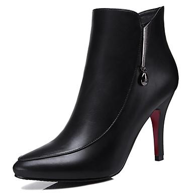 Bootsit-Piikkikorko-Naisten-Synteettinen-Musta-Toimisto Rento Juhlat