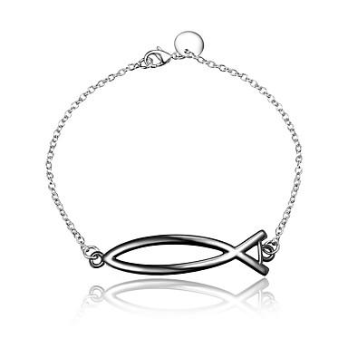 abordables Bracelet-Chaînes Bracelets Femme Argent sterling Fleur Rétro Vintage Mode Bracelet Bijoux Argent / Noir pour Mariage Soirée Quotidien Décontracté