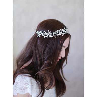 Mujer Perla Cestería Celada-Boda Ocasión especial Casual Bandas de cabeza Flores Cadena para la Cabeza Herramienta para el Cabello 1 Pieza