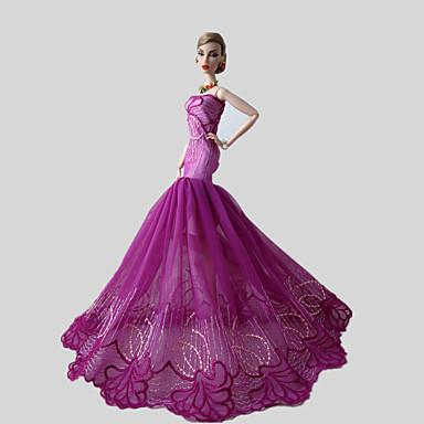 Fest & Aften Kjoler Til Barbie Doll Rosa Blonde Kjoler
