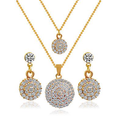 Mujer Conjunto de joyas - Incluir Los sistemas nupciales de la joyería Dorado Para Boda