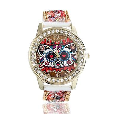 Mujer Reloj de Pulsera Cuarzo La imitación de diamante / Piel Banda Analógico Flor Moda Rojo - Negro Un año Vida de la Batería / Tianqiu 377