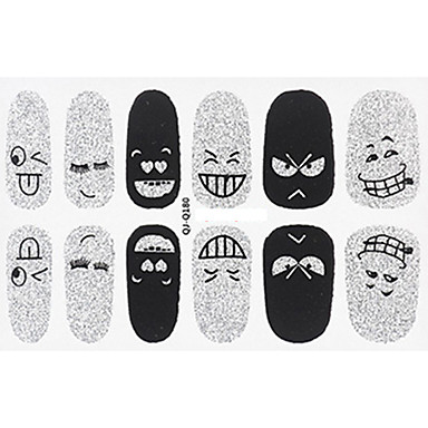 1 pcs Calcomanías de Uñas 3D arte de uñas Manicura pedicura Encantador Dibujos / Moda Diario / Pegatinas de uñas 3D