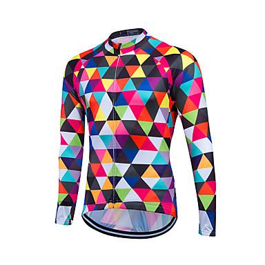 Fastcute Wielrenshirt Heren Lange mouw Fietsen Shirt Kleding Bovenlichaam Wielrenkleding Ademend Lichtgewicht materiaal Achterzak