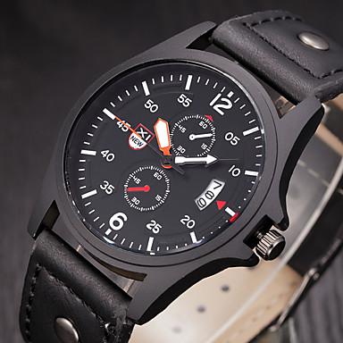 Homens Quartzo Relógio de Pulso / Relógio Militar / Relógio Esportivo Calendário / Legal / Cronômetro Couro Banda Vintage / Casual /