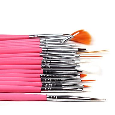 voordelige Nagelgereedschap & Apparatuur-15pcs Hout Nail Painting Tools Voor Noviteit / 4 kleuren Nagel kunst Manicure pedicure Klassiek / leuke Style Dagelijks