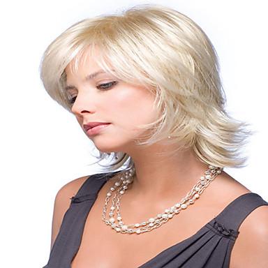 Synthetisch haar Pruiken Golvend Zonder kap Carnaval Pruik Halloween Pruik Natuurlijke pruik Kort Blond