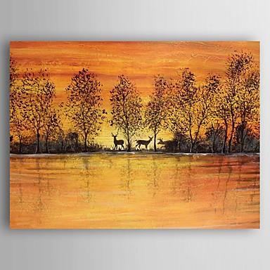 Handgeschilderde Landschap Olie schilderijen,Modern Eén paneel Canvas Hang-geschilderd olieverfschilderij For Huisdecoratie