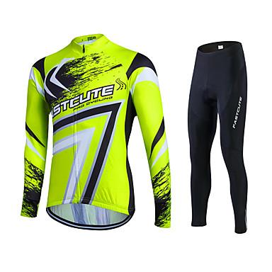 Fastcute Homens Mulheres Manga Longa Calça com Camisa para Ciclismo - Fractius + azul Moto Meia-calça Camisa/Roupas Para Esporte