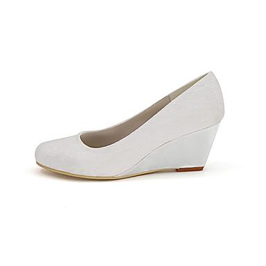 cddce08c24643b ... rond semelle Satin Femme Printemps Chaussures mariage Escarpin Invalide  de Basique Invalide 06457971 Eté de Chaussures ...
