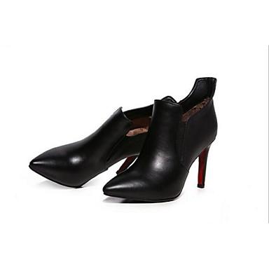 Støvler-LæderDamer-Sort-Udendørs-Stilethæl