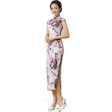 Traditionell Damen Rock A-Linie Kleid Pencil Kleid Cosplay Ärmellos Normallänge